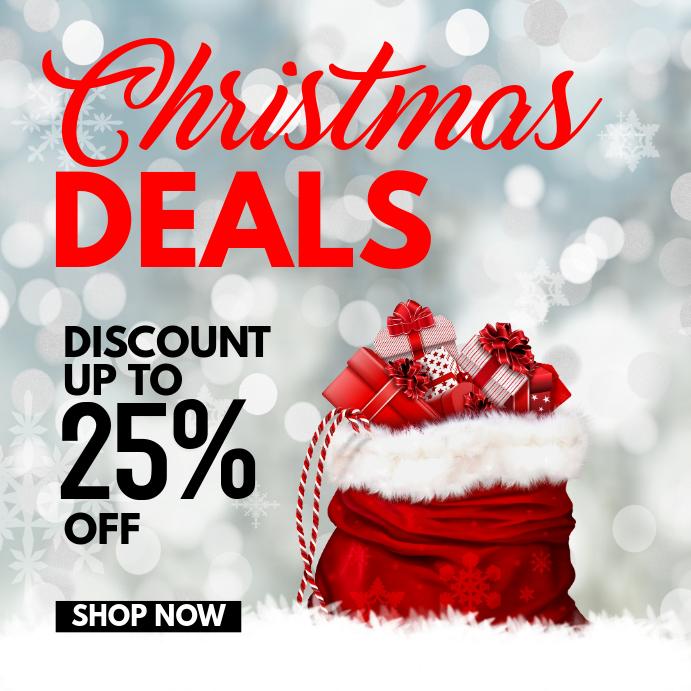 Christmas Printed Card santa Deals
